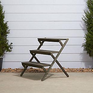 Vifah Renaissance Hand-scraped Wood Garden Plant Stand, , rollover