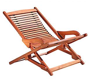 Vifah Malibu Outdoor Wood Folding Lounge, , large