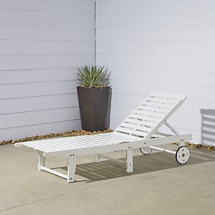 Vifah Bradley Outdoor Wood Folding Chaise Lounge, , rollover