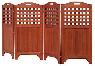 Vifah Malibu Outdoor Wood Privacy Screen, , large