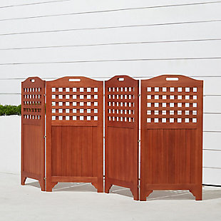 Vifah Malibu Outdoor Wood Privacy Screen, , large