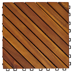 Vifah Malibu 12-Diagonal Slat Interlocking Deck Tile (Set of 10), , large