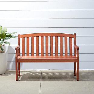 Vifah Malibu Outdoor 4ft Wood Garden Bench, , large