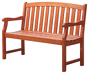 Vifah Malibu Outdoor 4ft Wood Garden Bench, , large