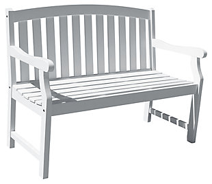 Vifah Bradley Outdoor 4ft Wood Garden Bench, , large