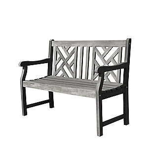 Vifah Renaissance Outdoor 4ft Hand-scraped Wood Garden Bench, , large