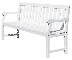 Vifah Bradley Outdoor 5ft Wood Garden Bench, , large