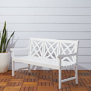 Vifah Bradley Outdoor 5ft Wood Garden Bench, , rollover