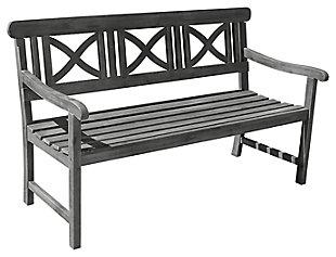 Vifah Renaissance Outdoor 5ft Hand-scraped Wood Garden Bench, , large