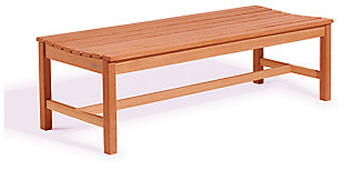 Vifah Malibu Outdoor 5ft Wood Backless Garden Bench, , large