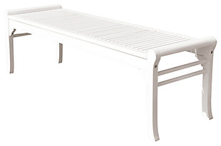 Vifah Bradley Outdoor 5ft Wood Backless Bench, , large