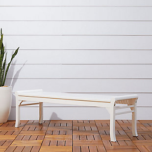 Vifah Bradley Outdoor 5ft Wood Backless Bench, , rollover