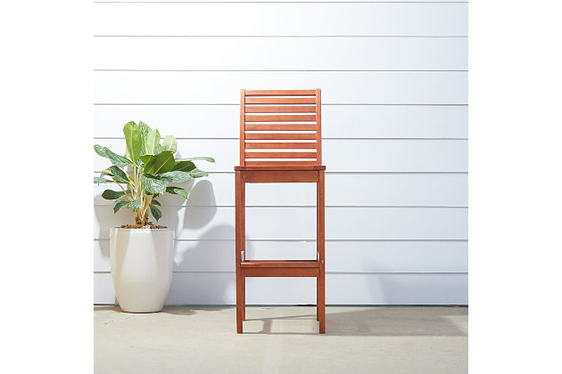 Vifah Malibu Outdoor Bar Chair, , large