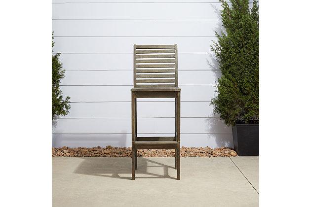 Vifah Renaissance Outdoor Hand-scraped Wood Bar Chair, , large