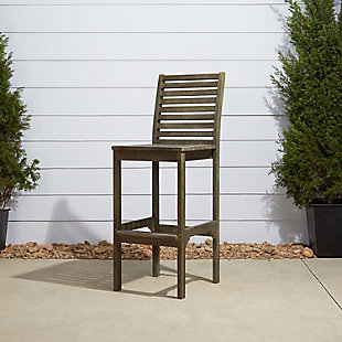 Vifah Renaissance Outdoor Hand-scraped Wood Bar Chair, , rollover