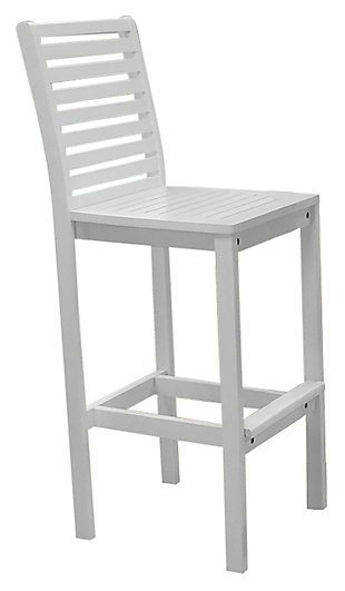 Vifah Bradley Outdoor Bar Chair, , large