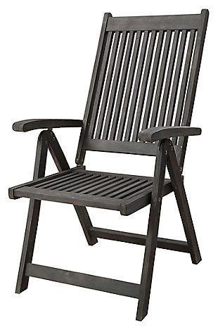 Vifah Renaissance Hand-scraped Wood 5-Position Reclining Chair, , large
