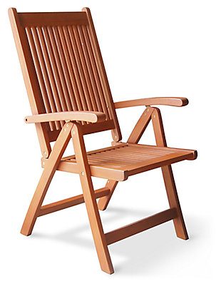 Vifah Malibu Outdoor 5-Position Reclining Chair, , large
