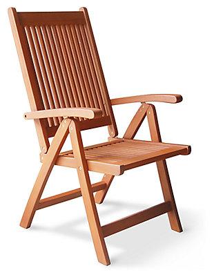 Vifah Malibu Outdoor 5-Position Reclining Chair, , large