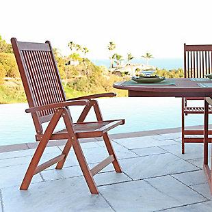 Vifah Malibu Outdoor 5-Position Reclining Chair, , rollover