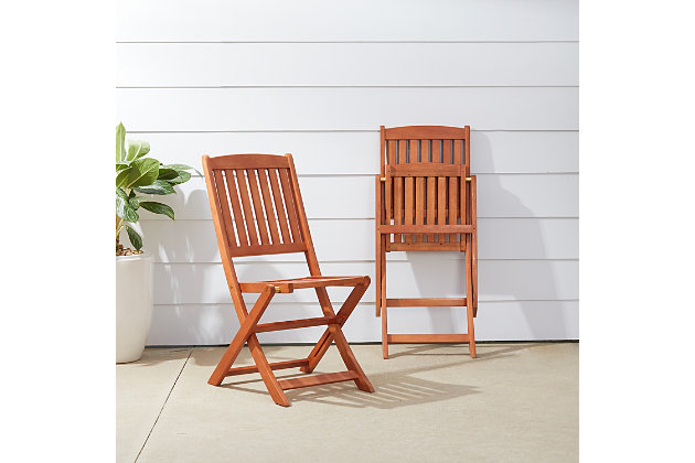 Vifah Malibu Outdoor Folding Bistro Chair (Set of 2), , large