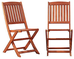 Vifah Malibu Outdoor Folding Bistro Chair (Set of 2), , large