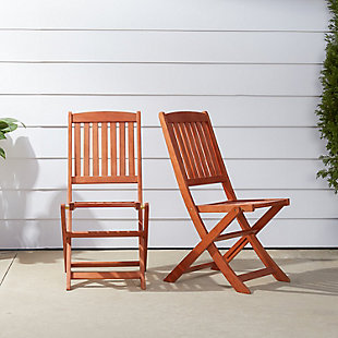 Vifah Malibu Outdoor Folding Bistro Chair (Set of 2), , rollover