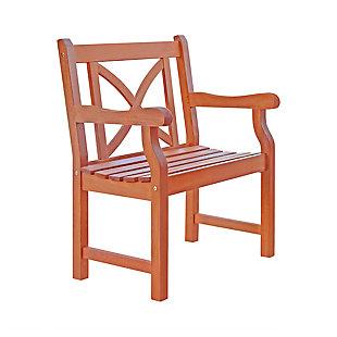 Vifah Malibu Outdoor Garden Armchair with X-Back, , large