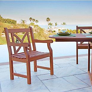 Vifah Malibu Outdoor Garden Armchair with X-Back, , rollover