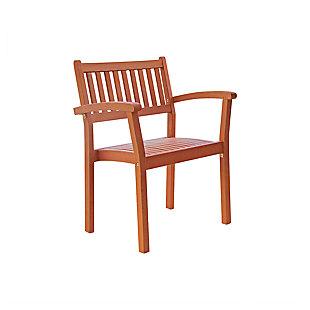 Vifah Malibu Outdoor Garden Stacking Armchair (Set of 4), , large