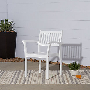 Vifah Bradley Outdoor Wood Garden Stacking Armchair (Set of 2), , rollover