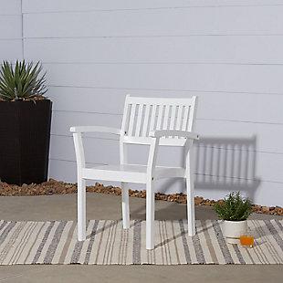 Vifah Bradley Outdoor Wood Garden Stacking Armchair (Set of 2), , rollover