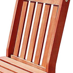Vifah Malibu Outdoor Garden Armless Chair, , large