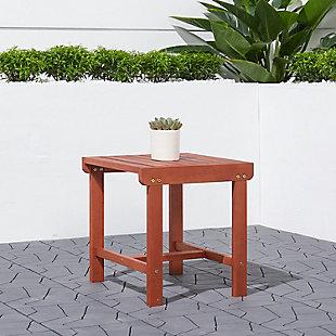 Vifah Malibu Outdoor Wood Side Table, , rollover