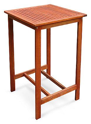 Vifah Malibu Outdoor Wood Side Table, , large