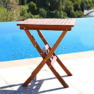 Vifah Malibu Outdoor Folding Bistro Table, , rollover