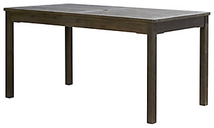 Vifah Renaissance Outdoor Rectangular Hand-scraped Wood Table, , large