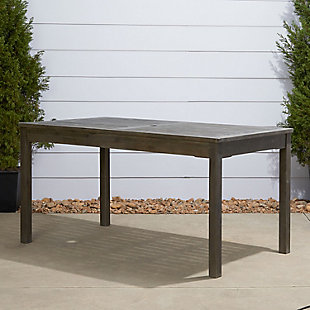 Vifah Renaissance Outdoor Rectangular Hand-scraped Wood Table, , rollover