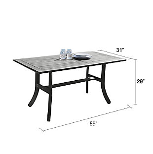 Vifah Renaissance Outdoor Hand-scraped Wood Table with Curvy Legs, , large