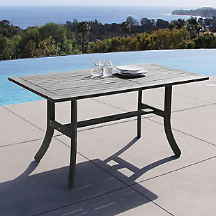 Vifah Renaissance Outdoor Hand-scraped Wood Table with Curvy Legs, , rollover