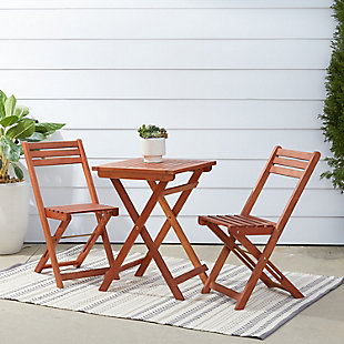 Vifah Malibu Outdoor 3-Piece Wood Bistro Set, , rollover