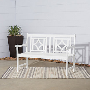 Vifah Bradley Outdoor Diamond 4ft Bench, , rollover