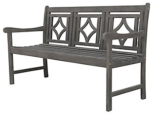 Vifah Renaissance Outdoor Diamond 5ft Hand-scraped Hardwood Bench, , large
