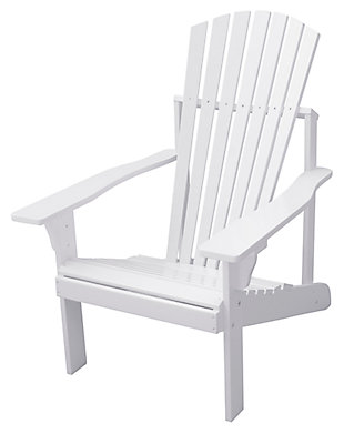 Vifah Bradley Outdoor Wood Adirondack Chair, , large