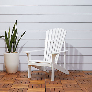Vifah Bradley Outdoor Wood Adirondack Chair, , rollover