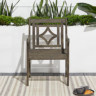 Vifah Renaissance Outdoor Diamond Hand-scraped Hardwood Armchair, , rollover