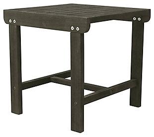 Vifah Renaissance Outdoor Wood Side Table, , large
