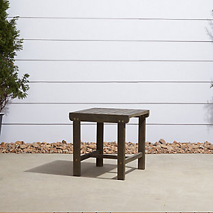 Vifah Renaissance Outdoor Wood Side Table, , rollover