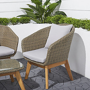 Vifah Grayton 4-Piece All-Weather Patio Wood and Wicker Set, , large