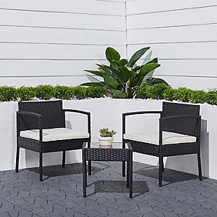 Vifah Tierra 3-Piece Outdoor Wicker Coffee Lounger Set with Cushion, , rollover